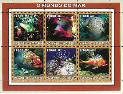 Mozambique 2002 Stamp, Marine Life, Fish, Place 3
