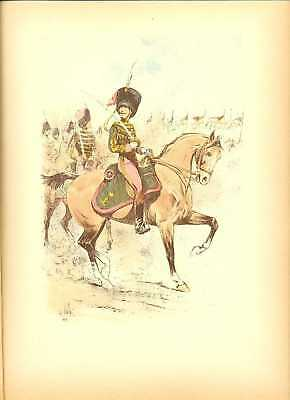 Belgian Officer Commander Lithography Louis Vallet 1892