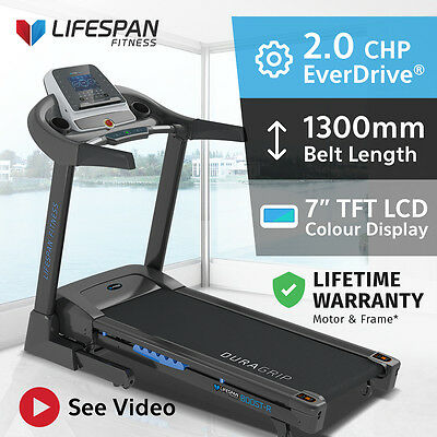 Lifespan New Electric Treadmill PRO ADJUSTABLE SUSPENSION Quiet EverDrive® Motor