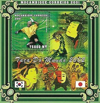 Mozambique 2001 Stamp, World Cup 2002, Football Sport 3