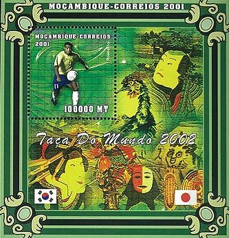 Mozambique 2001 Stamp, World Cup 2002, Football Sport 6