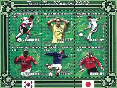 Mozambique 2001 Stamp, World Cup 2002 Football Sport 16