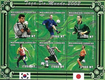 Mozambique 2001 Stamp, World Cup 2002 Football Sport 17