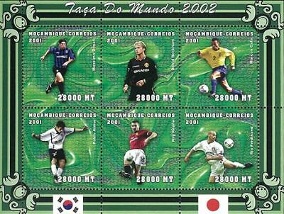 Mozambique 2001 Stamp, World Cup 2002 Football Sport 19