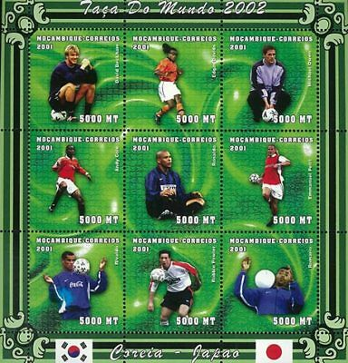 Mozambique 2001 Stamp, World Cup 2002 Football Sport 21