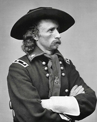 George Armstrong Custer #1 Photo 8X10 - B&W
