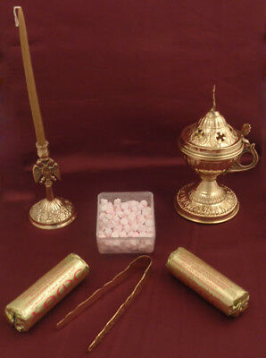 Orthodox Incense Burner Gift Pack Weihrauch Set Incienso Incenso Tămâie Tamjan