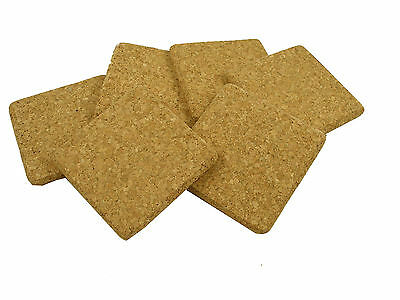 6 x Natural Cork Square Drink Coasters