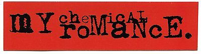MY CHEMICAL ROMANCE black logo on red STICKER **Free Shipping** the black parade