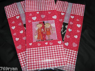 10 Love Picnic Valentine Romance Large Cello Cellophane Bags Gifts Crafts