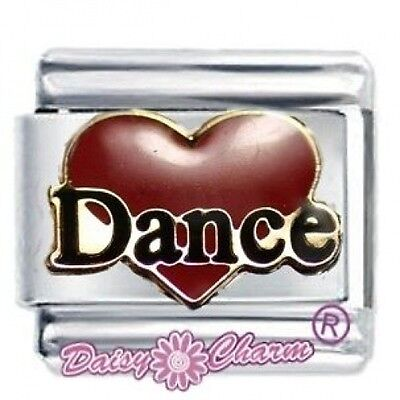 RED DANCE HEART - DAISY CHARM Fits Nomination Classic Italian Charms