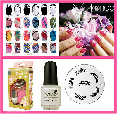 Konad Stamping  Nail Art Basic Set S Include M45 French