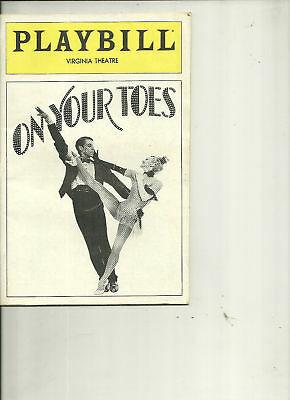 1983 Playbill- On Your Toes (Virginia Theatre)