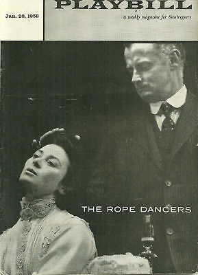 Playbill- Art Carney in The Rope Dancers (Jan 20 1958)