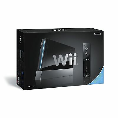 USED Nintendo Wii System Console Black JAPAN NTSC-J