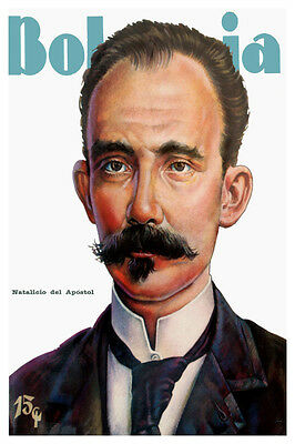 "578.Cuban interior Design poster""Jose Marti art painting""Cuba History class"