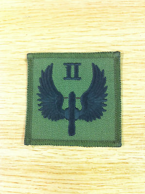 New 2 Squadron Raf Reg Patch on Olive 60mm x 60 mm