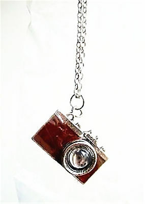 Vintage antique retro Style Brown Camera Chain Necklace