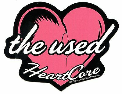 THE USED HeartCore STICKER -in love and death imaginary enemy lies heart core