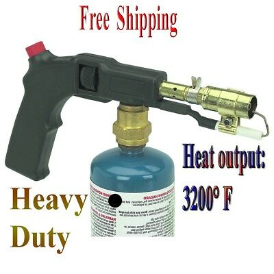 SHORT-HANDLED PROPANE PUSH START BLOW TORCH ROOFING GRASS NATURAL CHEMICAL FREE