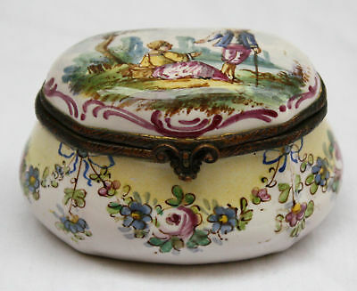 Magnificent 18C Handpainted Enameled European Box