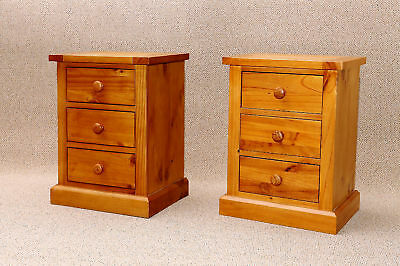 Bedside Lockers Solid Pine 2 Fully Assembled  Low Price