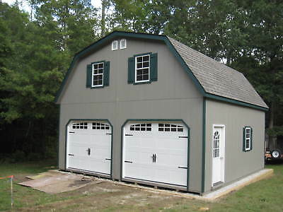 Amish 14x24 single car 2 story wood garage shed new for 20x20 garage cost