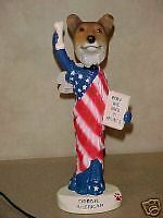 """PATRIOTIC SABLE WHITE SMOOTH COLLIE """"STATUE OF LIBERTY"""" NEW"""