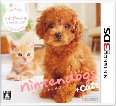 USED 3DS Nintendogs + Cats Toy Poodle & New Friends JP