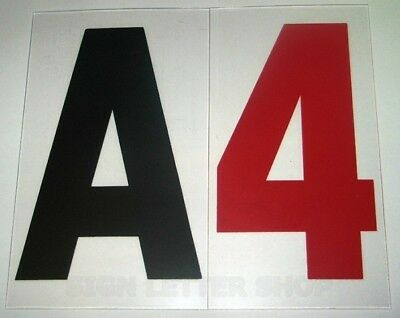 """Set 4 inch on 5""""  .060 flat  Rigid Marquee Sign Letters"""