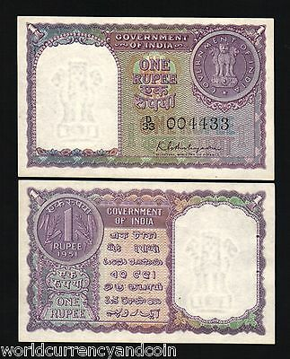 India 1 Rupee P73 1951 Coin Unc World Currency Paper Money Saarc Bill Bank Note