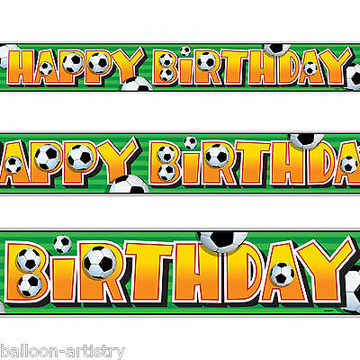 12ft Football Sports Party Happy Birthday Foil Banner Decoration