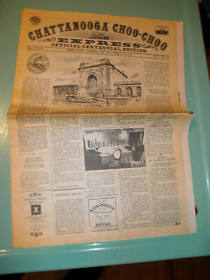Chattanooga Choo-Choo Newspaper 1980 Trains Souvenir