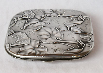 Magnificent Art Nouveau German 800  Sterling Silver Box