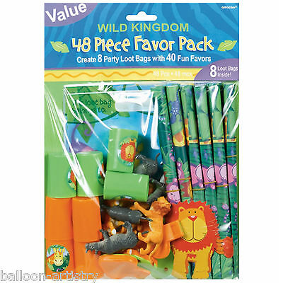 48 Piece Birthday Wild Animals Jungle Loot Favour Pack