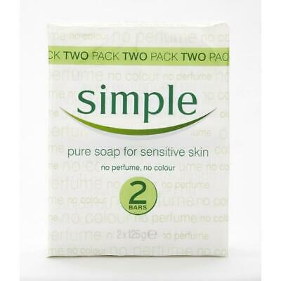 Simple Pure Soap For Sensitive Skin 2 Bars X 125G *