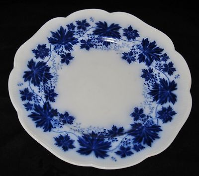 Gefle Flow Blue Dinner Plate, Grape Leaves Vinranka, made in Sweden