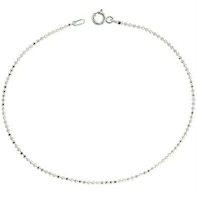 Sterling Silver Necklace Ball Chain Diamond Cut Beads