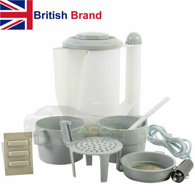 12v In Car Van Boat 4x4 Camping Travel Water Kettle With Cigarette Lighter Plug