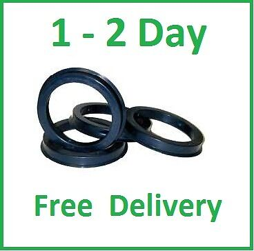 SPIGOT RINGS - 57.1 - 66.6 AUDI MERCEDES VW set of 4 !
