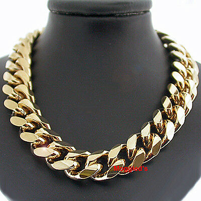 """11mm ROUNDED CURB THICK Link 14k GOLD GL 18"""" MENS Necklace + LIFETIME GUARANTEE"""