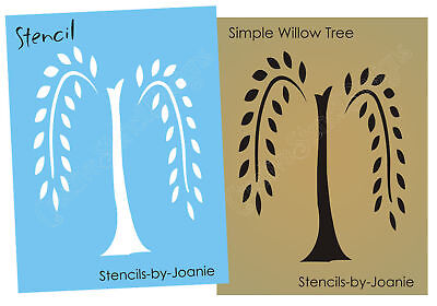 Primitive STENCIL Simplify Folk Art Weeping Willow Tree Country Family Home Sign