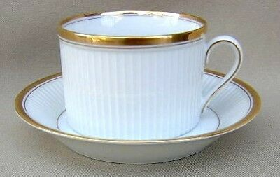 Fitz & Floyd Classique D'Or White Lot of 2 Cup & Saucer Sets