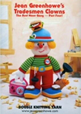 Jean Greenhowe Knitting Toy Patterns Tradesmen Clowns