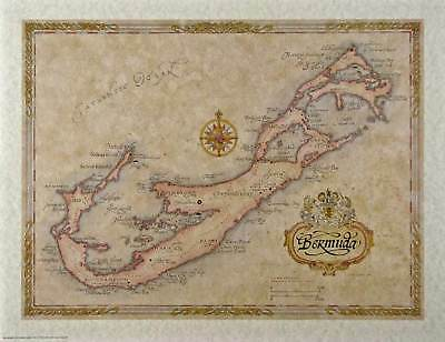 Antique style  BERMUDA MAP