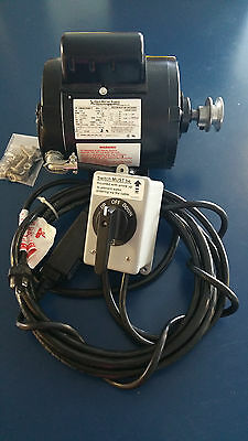 3/4HP AOSMITH Motor TENV w/Switch,GFCI,& WireFREE SHIPPING! 8009658544 boat lift