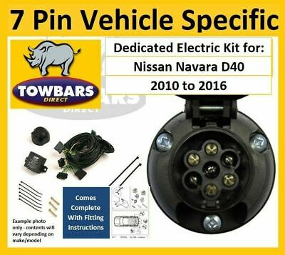 Amazing 7 Pin Towbar Wiring Kit For Nissan Navara D40 2010 To 2016 Dedicated Wiring Cloud Brecesaoduqqnet