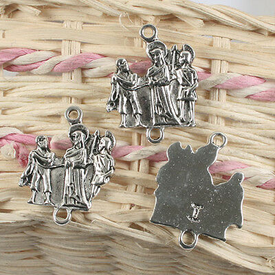6pcs antiqued silver color a Station of the Cross, of the Via Crucis  charm G905