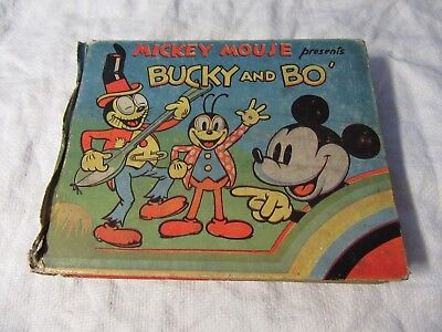 1936 MICKEY MOUSE Presents BUCKY & BO ~ 1 of 20 KNOWN