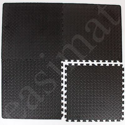 Interlocking Gym Mats Garage Anti Fatigue Floor Play Exercise Home Office 057 D